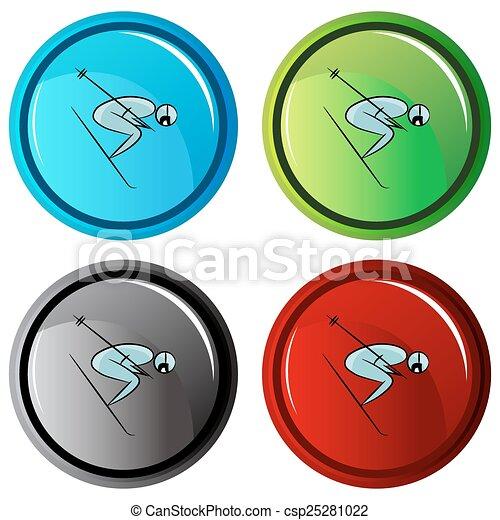 Botón de icono de jugador de tenis - csp25281022