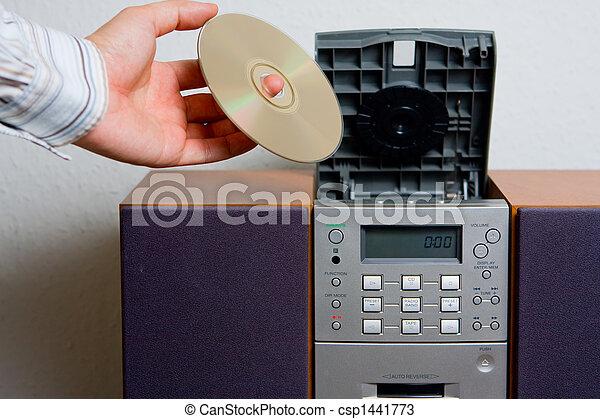 Entretenimiento musical de reproductor de CD - csp1441773