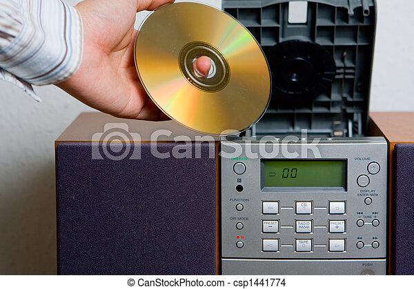 Entretenimiento musical de reproductor de CD - csp1441774