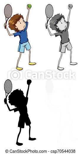 Un juego de tenis - csp70544038