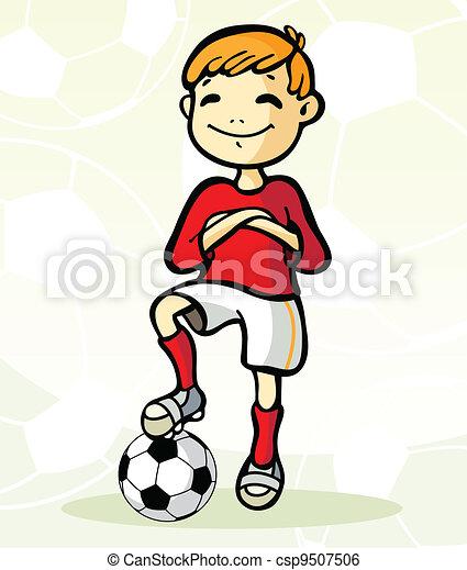 Jugador de fútbol con pelota - csp9507506