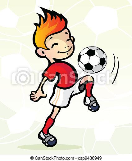 Jugador de fútbol con pelota - csp9436949