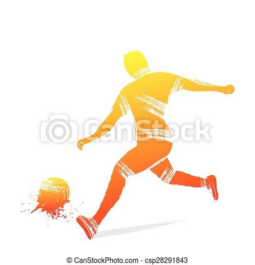 Diseño de jugadores de fútbol - csp28291843