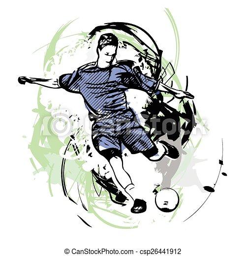 Jugador de fútbol - csp26441912