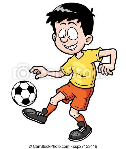 Jugador de fútbol - csp27123419