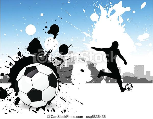 Jugador de fútbol - csp6836436