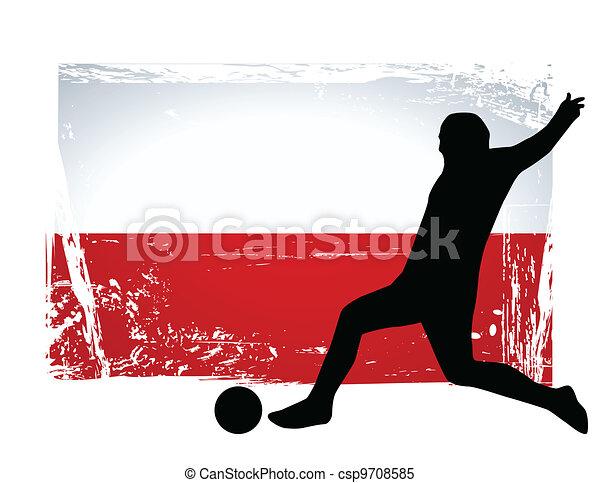 Jugador de fútbol - csp9708585