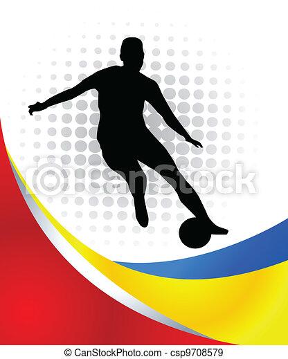 Jugador de fútbol - csp9708579