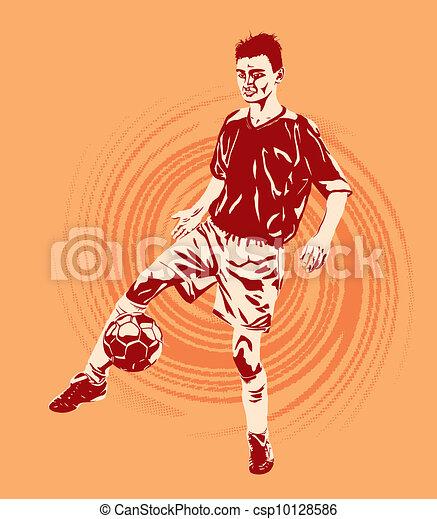 Jugador de fútbol - csp10128586