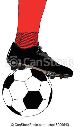 Jugador de fútbol - csp18009643