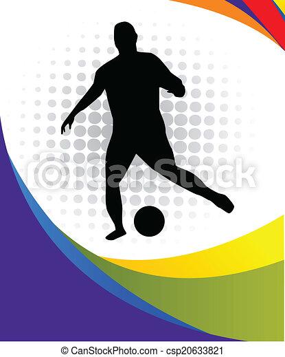 Jugador de fútbol - csp20633821