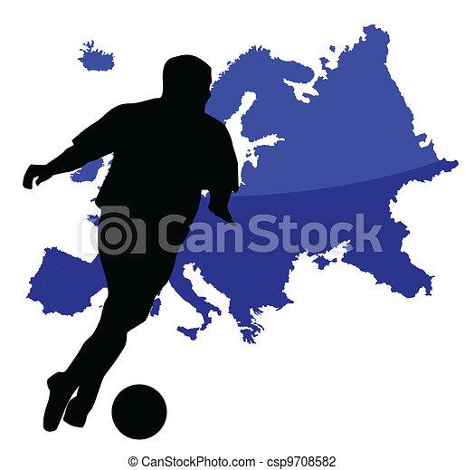 Jugador de fútbol - csp9708582