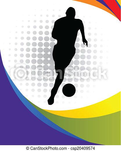Jugador de fútbol - csp20409574