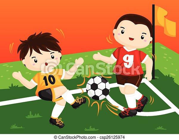 Jugador de fútbol - csp26125974