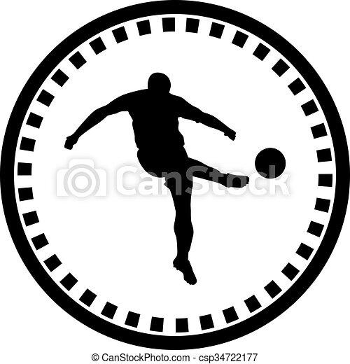 Jugador de fútbol - csp34722177