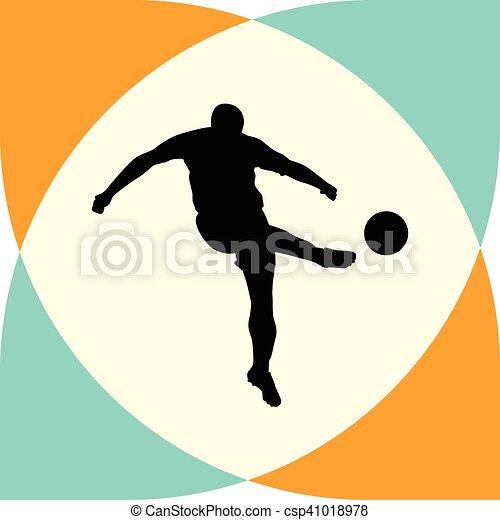 Jugador de fútbol - csp41018978