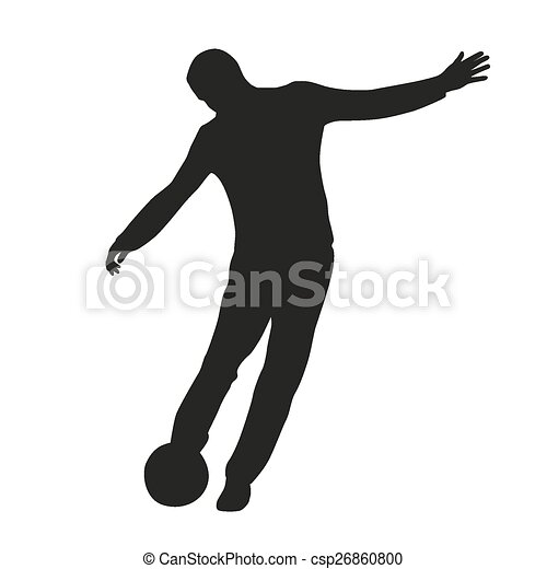 Silueta de jugador de fútbol - csp26860800