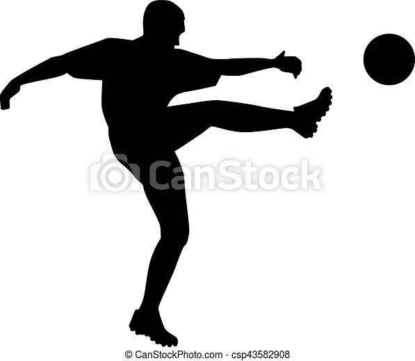 Silueta de jugador de fútbol - csp43582908