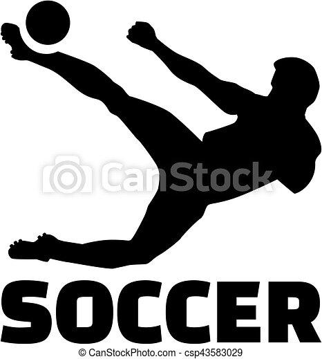 Jugador de fútbol con título - csp43583029