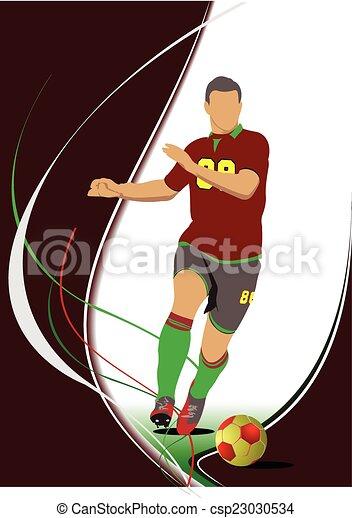 Jugador de fútbol - csp23030534