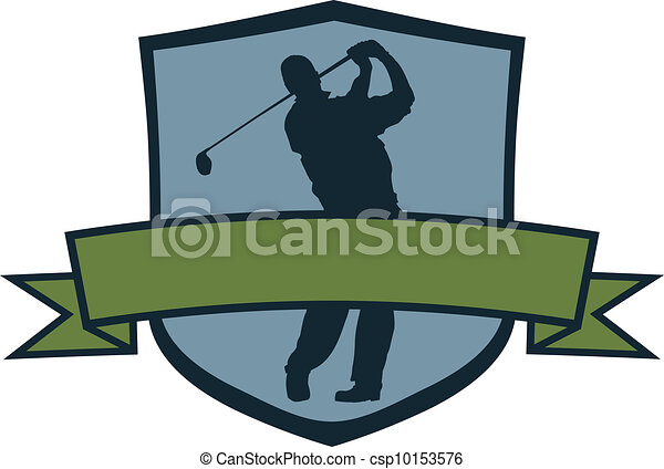 Cresta de jugador de golf - csp10153576