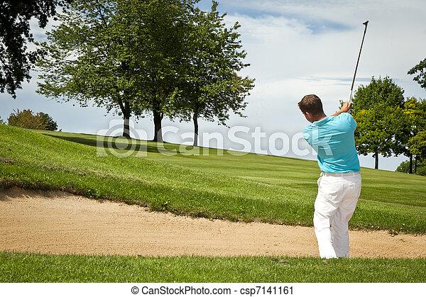 Jugador de golf - csp7141161