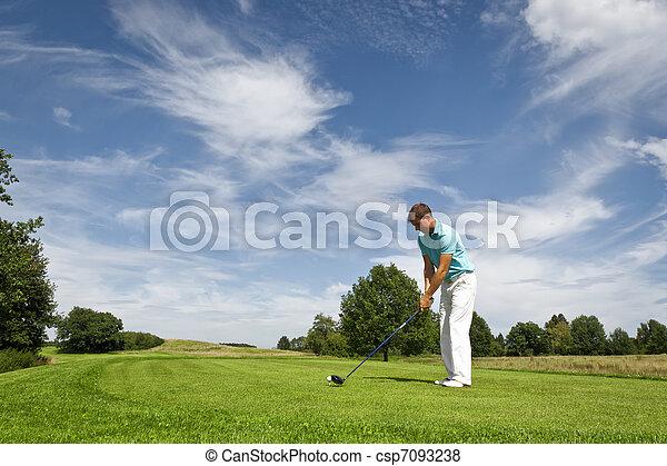 Jugador de golf - csp7093238