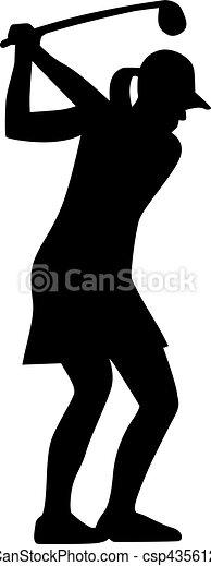 Mujer jugadora de golf - csp43561259
