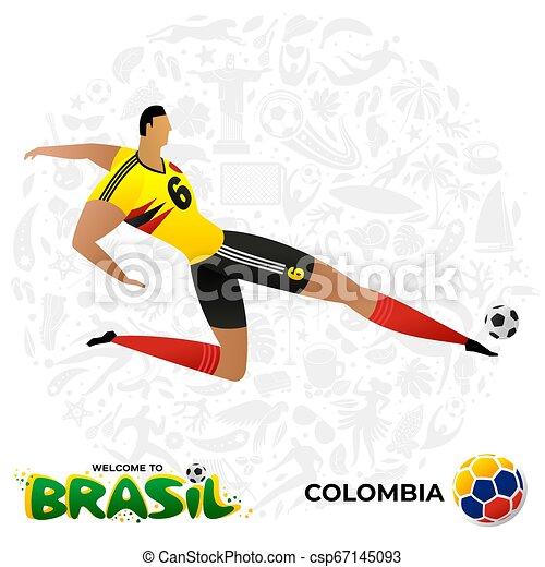 Jugador de fútbol en forma de equipos nacionales. - csp67145093