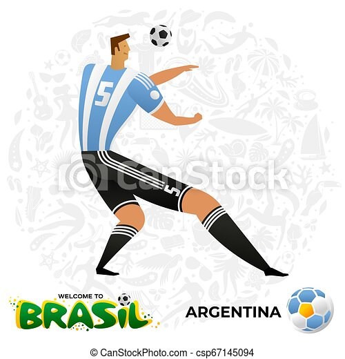 Jugador de fútbol en forma de equipos nacionales. - csp67145094