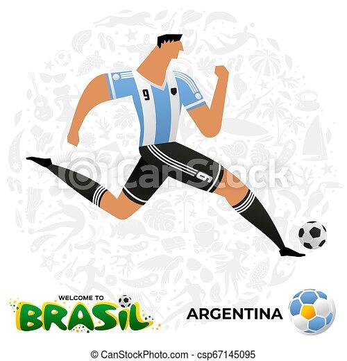 Jugador de fútbol en forma de equipos nacionales. - csp67145095
