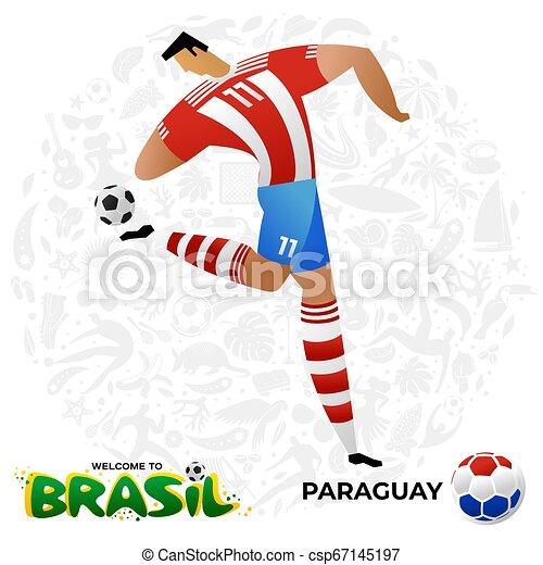 Jugador de fútbol en forma de equipos nacionales. - csp67145197