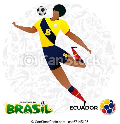 Jugador de fútbol en forma de equipos nacionales. - csp67145198