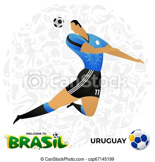 Jugador de fútbol en forma de equipos nacionales. - csp67145199