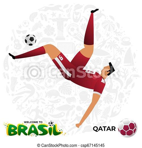 Jugador de fútbol en forma de equipos nacionales. - csp67145145