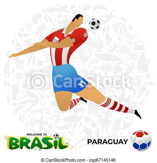 Jugador de fútbol en forma de equipos nacionales. - csp67145146