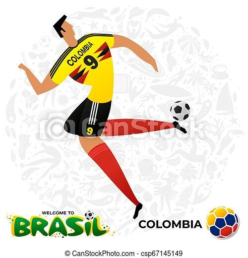 Jugador de fútbol en forma de equipos nacionales. - csp67145149