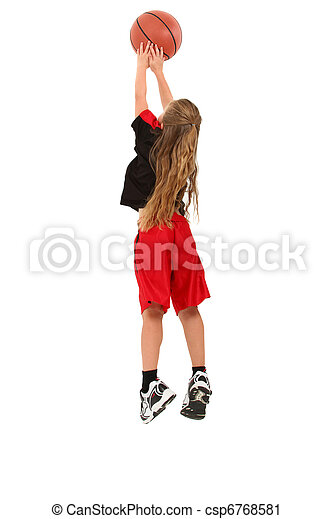 Chica jugador de baloncesto infantil - csp6768581