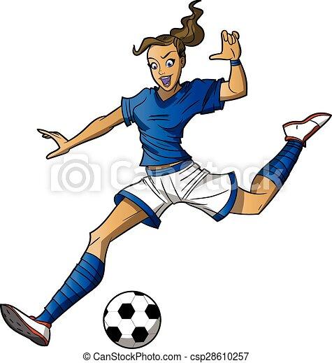 Chica futbolista - csp28610257