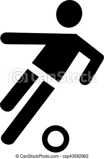 Simbolo de jugador de fútbol - csp43582962
