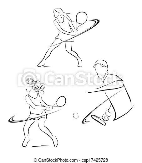 Simbolo de jugador de tenis - csp17425728