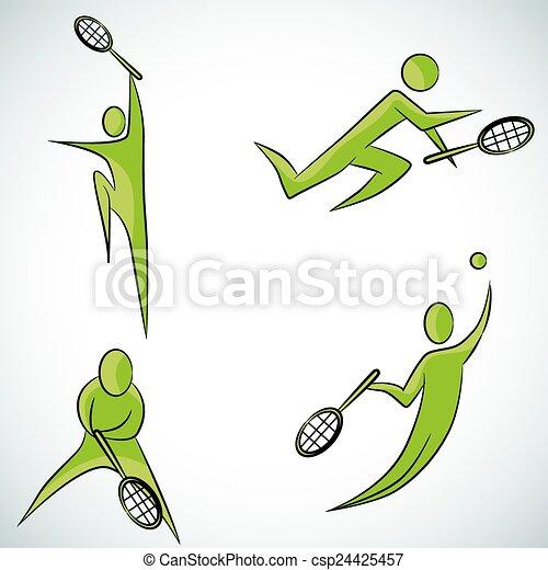 Juego de tenis - csp24425457