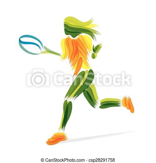 Diseño de tenis - csp28291758