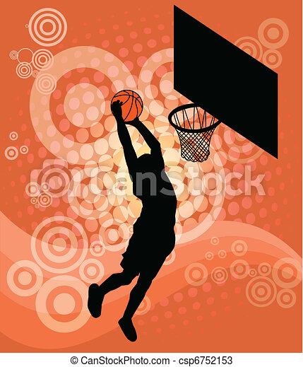 Jugador de baloncesto, vector - csp6752153