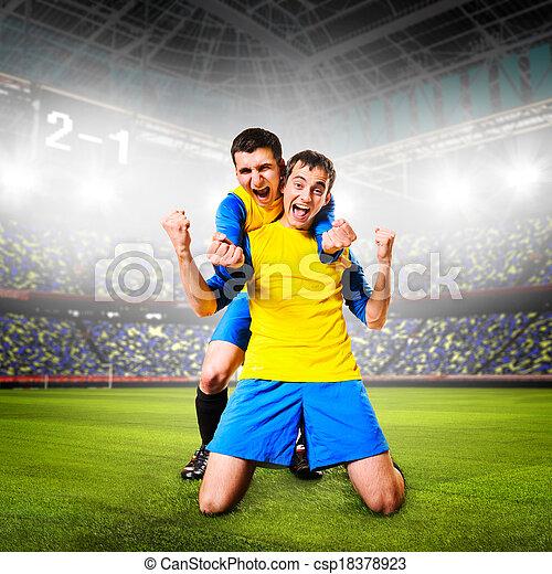 Jugadores de fútbol - csp18378923