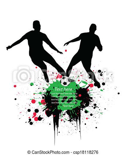 Jugadores de fútbol - csp18118276