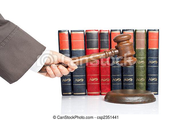 juge, annoncer, verdict - csp2351441