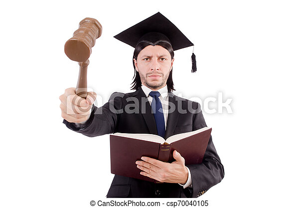 juge, blanc, isolé, fond - csp70040105