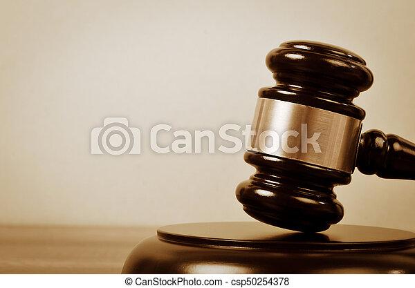 juge, justice, droit & loi, symbole. - csp50254378
