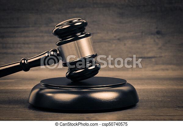 juge, justice, droit & loi, symbole. - csp50740575